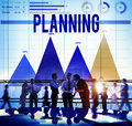 Planning plan strategy direction idea objective concept Stock Image