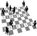 Planning Strategy Solution human chess people Stock Image
