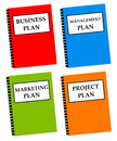Plans several kinds of needed in a decent company Royalty Free Stock Photos