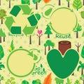Plant Icon Seamless Pattern Company Design