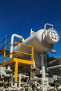 Plant petroleum refinery tank and pipeline Stock Images