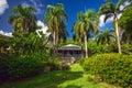 Planter house in botanic garden. Road Town, Tortola Royalty Free Stock Photo