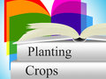 Planting crops indicates agrarian cultivation and field meaning agribusiness agriculture farming Stock Photography