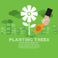 Planting trees vector illustration concept eps Stock Photography