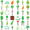 Plants Icon Set Royalty Free Stock Photo