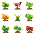 Plants vector illustration of in soil Royalty Free Stock Photo