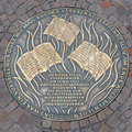 Plaque of 1933 Book Burning in Frankfurt, Germany Royalty Free Stock Photo