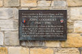 Plaque dedicated to astronomer john goodricke in york englan a england on th may Stock Images