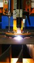 Plasma cutting torch. Stock Photo
