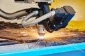 Plasma or laser cutting metalwork Royalty Free Stock Photo