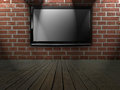 Plasma TV on the wall Royalty Free Stock Photo