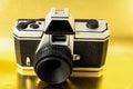 Plast toy photo camera för klassiker mm Fotografering för Bildbyråer