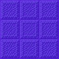 Abstract textured blue background. Checkered pattern from square. Vector EPS for Web design. Royalty Free Stock Photo