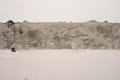 Plastered wall surface with strip of raw concrete close up Stock Photography