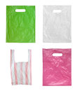 Plastic bags isolated on white background Stock Image