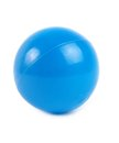 Plastic ball blue isolated over white Stock Image