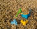 Plastic Beach Toys Royalty Free Stock Photo