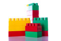 Plastic blocks w clipping path on white background Stock Photo