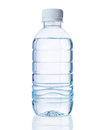 Plastic bottle of clear water drinking on isolated white background with s reflection Stock Photo