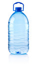 Plastic bottle of drinking water isolated on white background Royalty Free Stock Photo