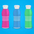 Plastic bottle drinking yoghurt vector illustration Stock Photography