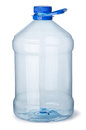 Plastic bottle empty gallon isolated on white Royalty Free Stock Photography
