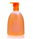 Plastic bottle with liquid soap Royalty Free Stock Photos