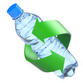 Plastic bottle recycling concept Royalty Free Stock Images