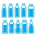 Plastic bottle set vector illustration of Royalty Free Stock Photography