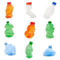 Plastic bottles isolated on white background recycle concept Stock Photography