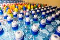 Plastic bottles with mineral water. Royalty Free Stock Photo