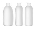 Plastic bottles set of white on white background ready for your design Stock Images