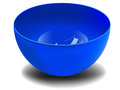 Plastic bowl vector blue on white background Royalty Free Stock Photography