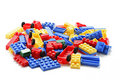 Plastic Building Blocks Royalty Free Stock Photo