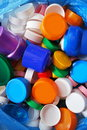 Plastic caps background colorful bottle for recycling as a Royalty Free Stock Images