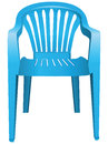 Plastic chair the is made of blue vector illustration Royalty Free Stock Image
