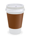 Plastic coffee cup Stock Photography