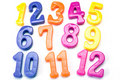 Plastic color numbers . Royalty Free Stock Images