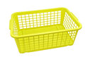 Plastic container isolated on white empty basket background Royalty Free Stock Photography
