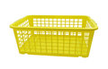 Plastic container isolated on white empty basket background Royalty Free Stock Image