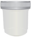 Plastic container for passing urine