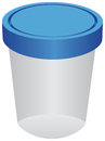 Plastic container for urine