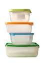 Plastic containers food on a white background Royalty Free Stock Photo