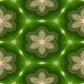 Plastic 3d patterns with floral motif, abstract seamless background in green and beige Royalty Free Stock Photo