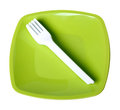 Plastic dishes Royalty Free Stock Image