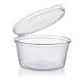 Plastic disposable sauce cup