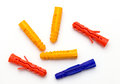 Plastic Dowels Isolated
