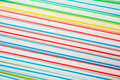 Plastic drinking straws . Stock Images