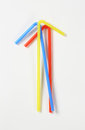 Plastic drinking straws Royalty Free Stock Photo