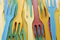 Plastic forks Royalty Free Stock Photos